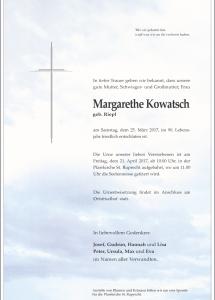 Kowatsch Margarethe