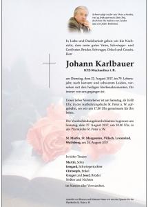 parte Karlbauer Johann