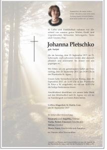 Pletschko Johanna