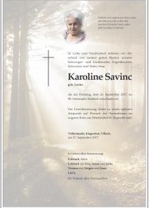 Savinc Karoline