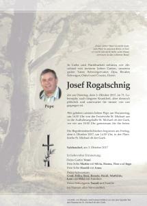 Rogatschnig Josef