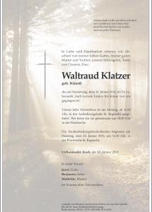 Klatzer Waltraud