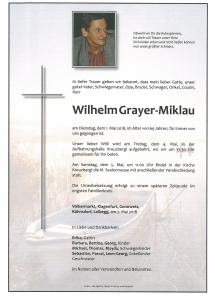 Grayer-Miklau Wilhelm