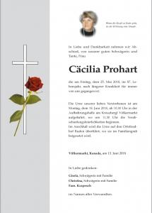 Prohart Cäcilia