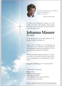 Maurer Johanna