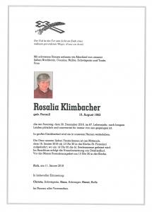 Klimbacher Rosalia