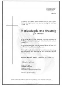 Hrastnig Maria Magdalena
