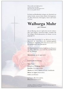 Muhr Walburga
