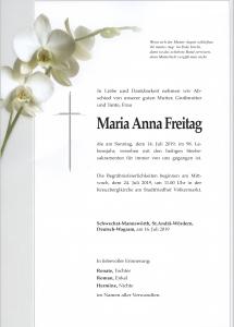 Freitag Maria Anna