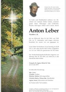 Leber Anton