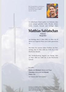 Sablatschan Matth