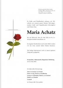 Achatz Maria